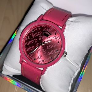 JUICY COUTURE BLACK LABEL Pink Vegan Leather Watch